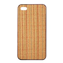 Elegant Striped Linen Texture Apple Iphone 4/4s Seamless Case (black)