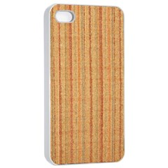 Elegant Striped linen texture Apple iPhone 4/4s Seamless Case (White)