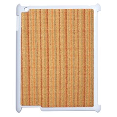 Elegant Striped linen texture Apple iPad 2 Case (White)