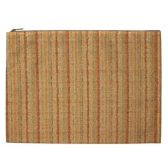 Elegant Striped linen texture Cosmetic Bag (XXL)