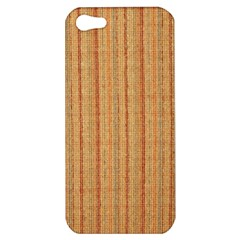 Elegant Striped Linen Texture Apple Iphone 5 Hardshell Case