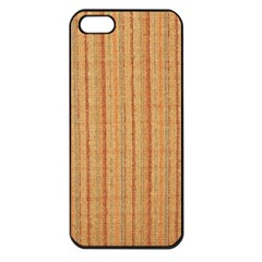 Elegant Striped linen texture Apple iPhone 5 Seamless Case (Black)