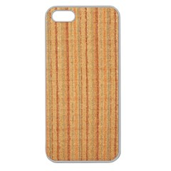 Elegant Striped Linen Texture Apple Seamless Iphone 5 Case (clear)