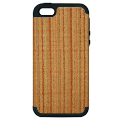 Elegant Striped linen texture Apple iPhone 5 Hardshell Case (PC+Silicone)