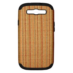 Elegant Striped linen texture Samsung Galaxy S III Hardshell Case (PC+Silicone)
