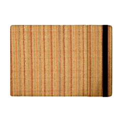 Elegant Striped Linen Texture Apple Ipad Mini Flip Case