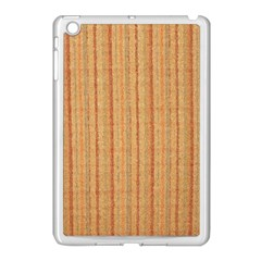 Elegant Striped linen texture Apple iPad Mini Case (White)