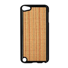 Elegant Striped Linen Texture Apple Ipod Touch 5 Case (black)