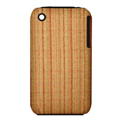 Elegant Striped linen texture Apple iPhone 3G/3GS Hardshell Case (PC+Silicone)