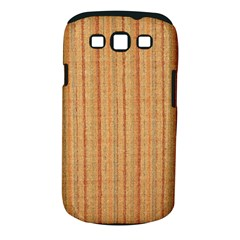 Elegant Striped linen texture Samsung Galaxy S III Classic Hardshell Case (PC+Silicone)