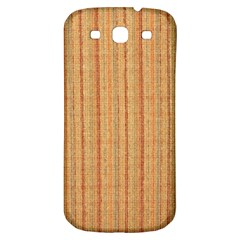 Elegant Striped linen texture Samsung Galaxy S3 S III Classic Hardshell Back Case