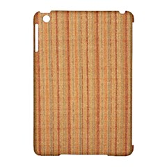 Elegant Striped Linen Texture Apple Ipad Mini Hardshell Case (compatible With Smart Cover)