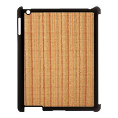 Elegant Striped linen texture Apple iPad 3/4 Case (Black)