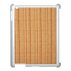 Elegant Striped linen texture Apple iPad 3/4 Case (White)