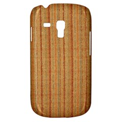 Elegant Striped Linen Texture Samsung Galaxy S3 Mini I8190 Hardshell Case