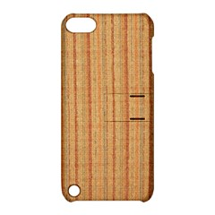 Elegant Striped linen texture Apple iPod Touch 5 Hardshell Case with Stand