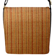 Elegant Striped Linen Texture Flap Messenger Bag (s)