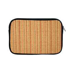 Elegant Striped Linen Texture Apple Ipad Mini Zipper Cases