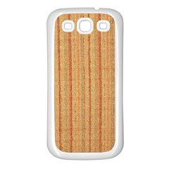 Elegant Striped linen texture Samsung Galaxy S3 Back Case (White)