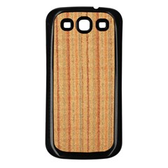 Elegant Striped Linen Texture Samsung Galaxy S3 Back Case (black)
