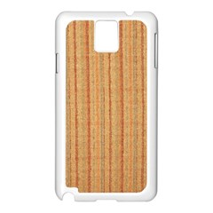 Elegant Striped Linen Texture Samsung Galaxy Note 3 N9005 Case (white)