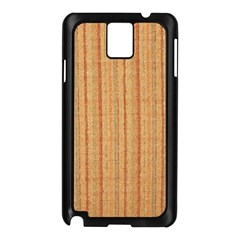 Elegant Striped linen texture Samsung Galaxy Note 3 N9005 Case (Black)