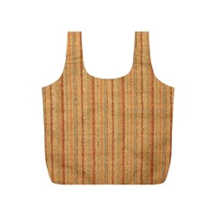 Elegant Striped Linen Texture Full Print Recycle Bags (s)