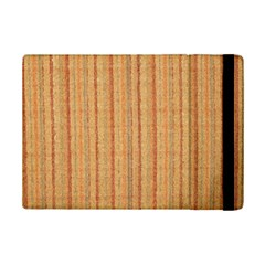 Elegant Striped linen texture iPad Mini 2 Flip Cases