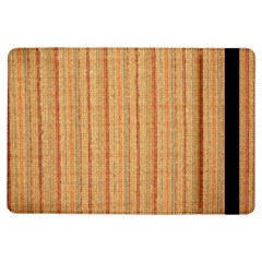 Elegant Striped Linen Texture Ipad Air Flip