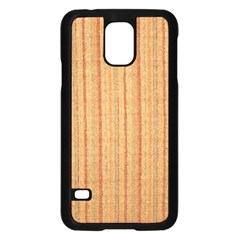 Elegant Striped linen texture Samsung Galaxy S5 Case (Black)