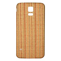 Elegant Striped linen texture Samsung Galaxy S5 Back Case (White)