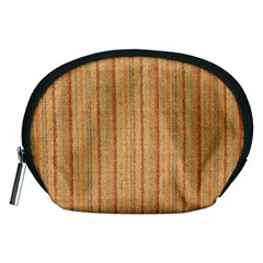 Elegant Striped linen texture Accessory Pouches (Medium)