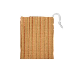 Elegant Striped linen texture Drawstring Pouches (Small)