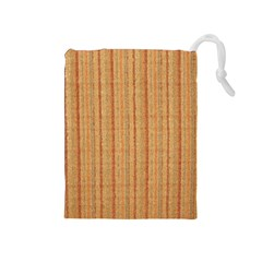 Elegant Striped linen texture Drawstring Pouches (Medium)