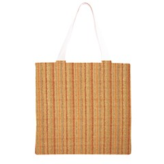 Elegant Striped linen texture Grocery Light Tote Bag