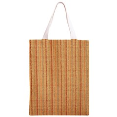 Elegant Striped linen texture Classic Light Tote Bag