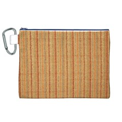 Elegant Striped linen texture Canvas Cosmetic Bag (XL)