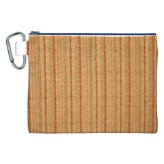 Elegant Striped linen texture Canvas Cosmetic Bag (XXL)