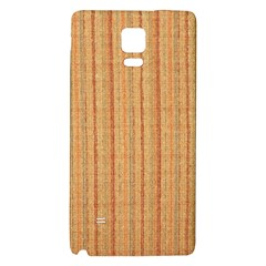 Elegant Striped linen texture Galaxy Note 4 Back Case