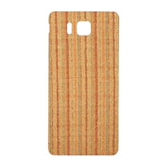 Elegant Striped Linen Texture Samsung Galaxy Alpha Hardshell Back Case