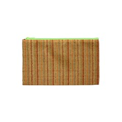 Elegant Striped linen texture Cosmetic Bag (XS)