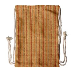 Elegant Striped Linen Texture Drawstring Bag (large)