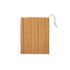Elegant Striped linen texture Drawstring Pouches (XS)