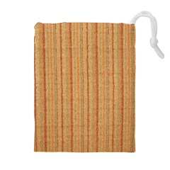 Elegant Striped linen texture Drawstring Pouches (Extra Large)