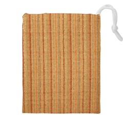 Elegant Striped Linen Texture Drawstring Pouches (xxl)