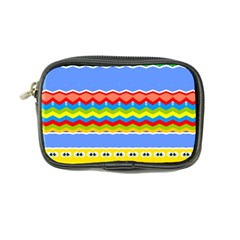 Colorful Chevrons And Waves                 	coin Purse