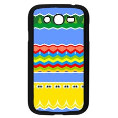 Colorful Chevrons And Waves                 samsung Galaxy Grand Duos I9082 Case (black)