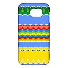 Colorful Chevrons And Waves                 samsung Galaxy S6 Hardshell Case