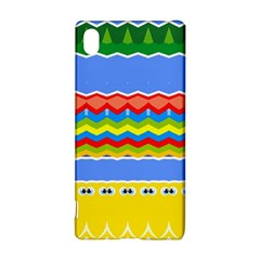 Colorful chevrons and waves                 			Sony Xperia Z3+ Hardshell Case