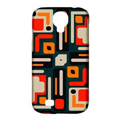 Shapes In Retro Colors Texture                   samsung Galaxy S4 Classic Hardshell Case (pc+silicone)